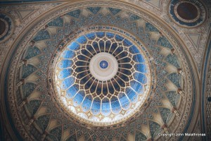 The interior of the dome of the Szeged Synagogue