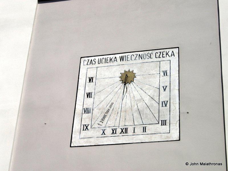 View from little Karol Wojtyla's window