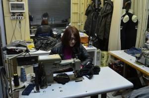 Seamstress in the Bezesten covered market