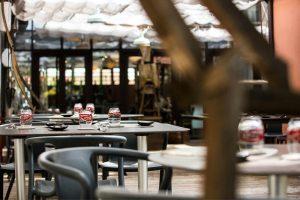 The one-star Michelin restaurant Aux Terrasses in Tournus