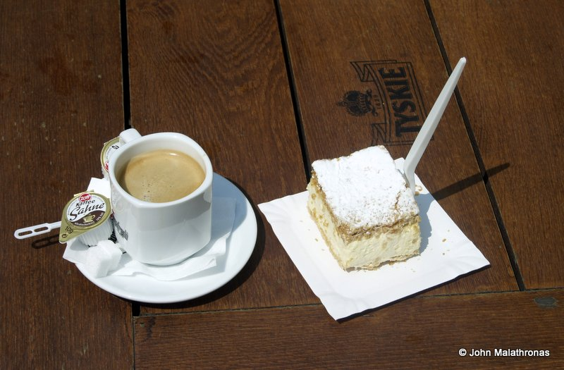 A cup of coffee and a Kremowka, Pope John paul II's favourite sweet