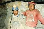 Potosi Miners resting inside Cerro Rico