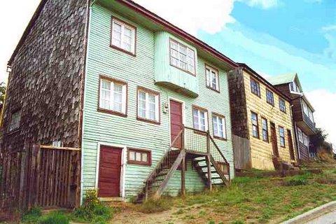 wooden slate houses