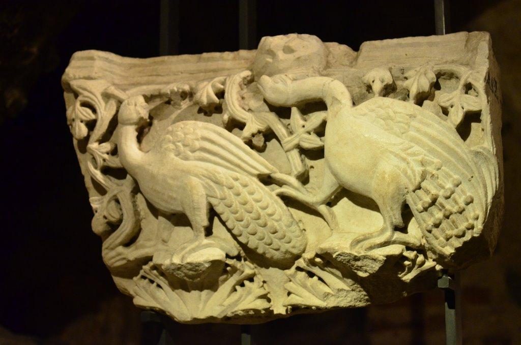Roman sculpture in the crypt Salonika St  Demetrius