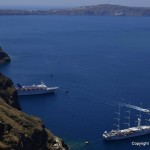 Santorini, old port