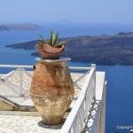 Cycladic balcony santorini