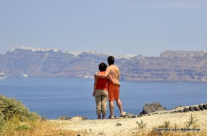View from Akrotiri, Santorini