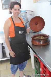 Stella from Sirocco restaurant, Paleohori, Milos, Greece
