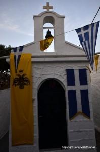 The chapel of St Methodia on Kimolos