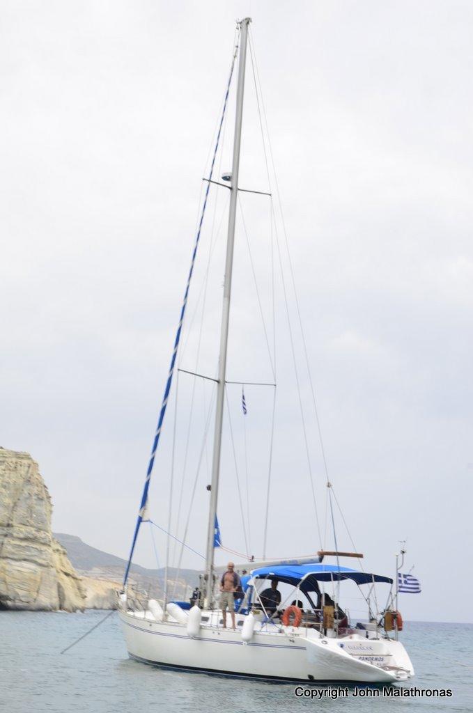 Panormos, our ship Milos