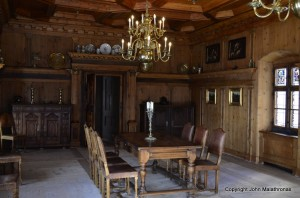 Tarasp castle dining room