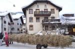 Scuol Switzerland Hom STrom guarding totemic pole