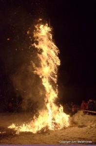 Burning of Hom Strom scuol Switzerland