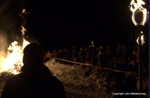 Watching Hom Strom burn scuol Switzerland