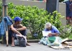 Sao Bento monastery beggars Sao Paulo Brazil