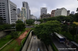 Sao Paulo downtown Brazil