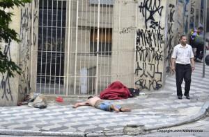 sleeping rough Sao Paulo Brazil