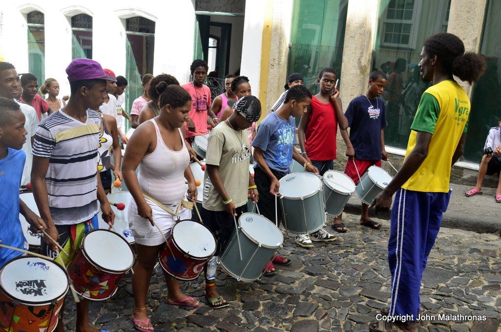 School percussion band salvador brazil