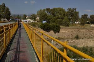 Footbridge Corinth Canal