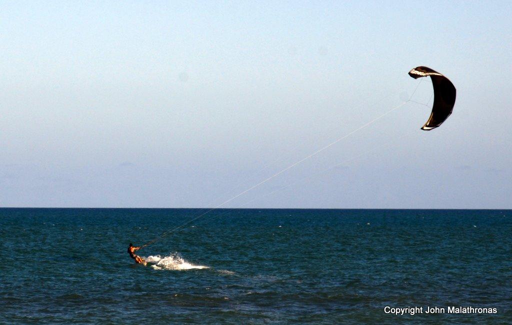 Kitesurfing on Mundaí beach Brazil