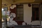 Paint peeling at Corinth station