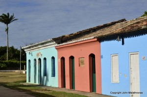 Renovated one-storey stone-and-adobe houses in the historic centre of Porto Seguro
