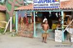 Pataxó kid in traditional dress Porto Seguro Brazil