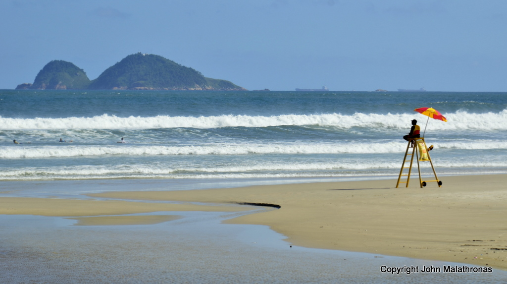 Surf's up in Guaruja
