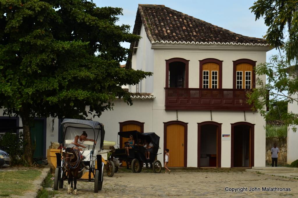 Horse Carriages in the Praça Matriz paraty