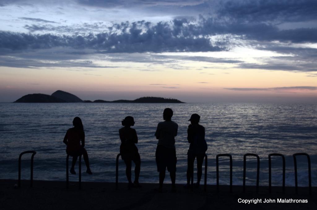 Ipanema sunset Brazil