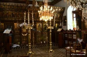 The interior of the Faneromeni church on Skopelos, Sporades, Greece