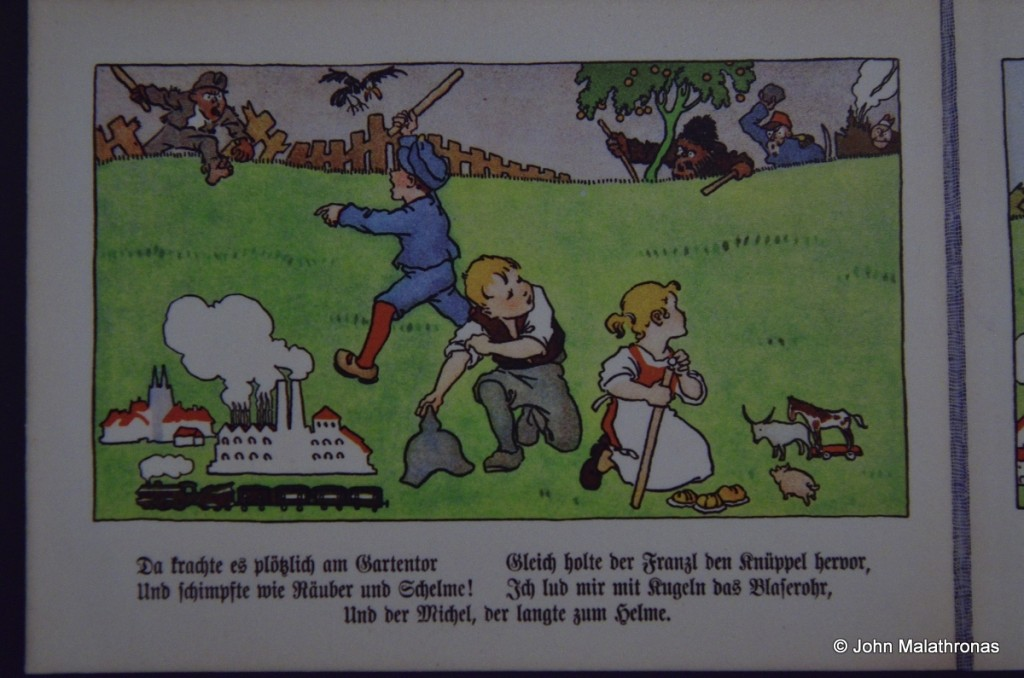 War propaganda: Detail, Austrian children's book 1914