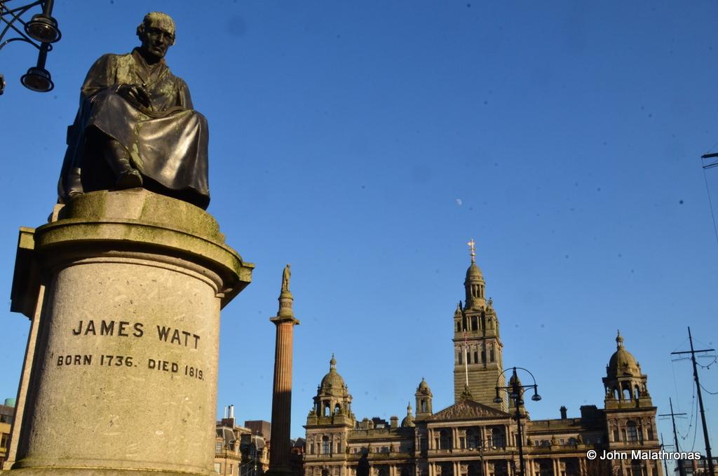 James Watt statue, Glasgow George square