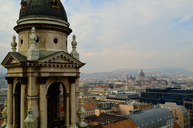 View of Buda from St Stephen's Basilica in Pest