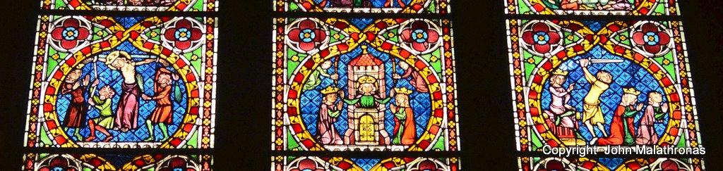 St Catherine window middle panel