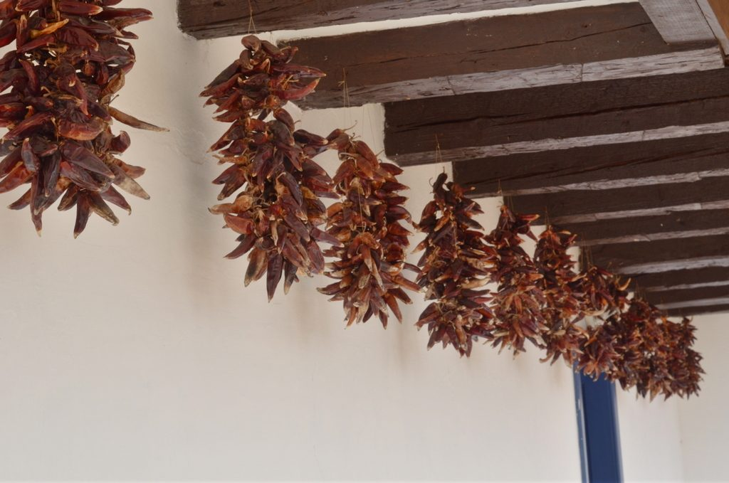 Paprika drying in Hungary