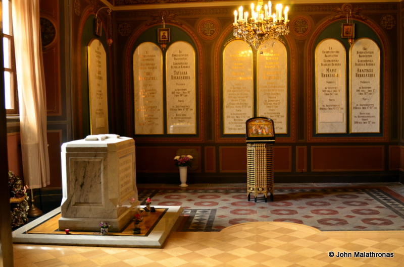 The remains of Nicholas II and his family in the St Catherine Chapel