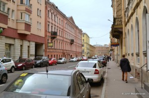 Raskolnikoff's walk to kill the old lady moneylender: right in to today's Rimsky Korsakoff street