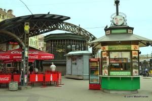 Metro Sadovaya entrance at the old Haymarket, St Petersburg
