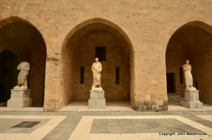 Roman statues from Kos, palace of grand masters, Rhodes