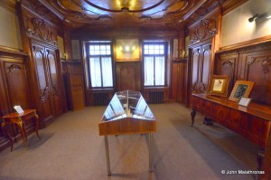 One of the rooms in the Nabokov museum