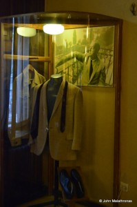 One of Nabokov's suits aside the photograph of him wearing it