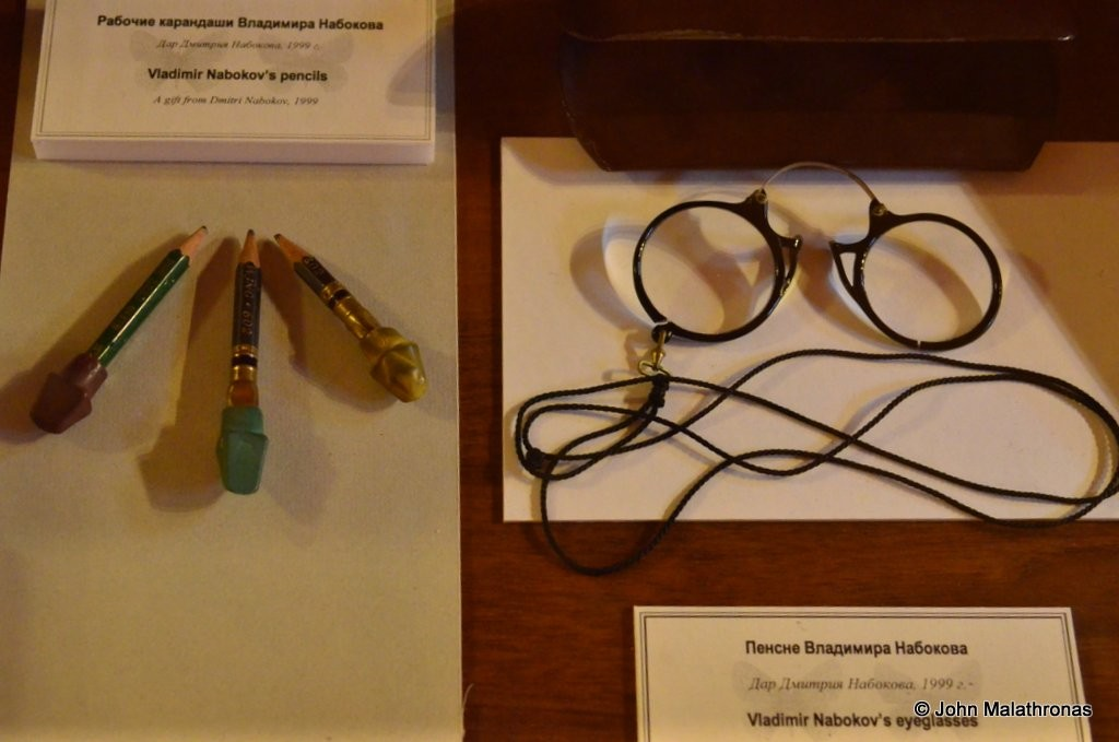 Nabokov's pince-nez and pencils