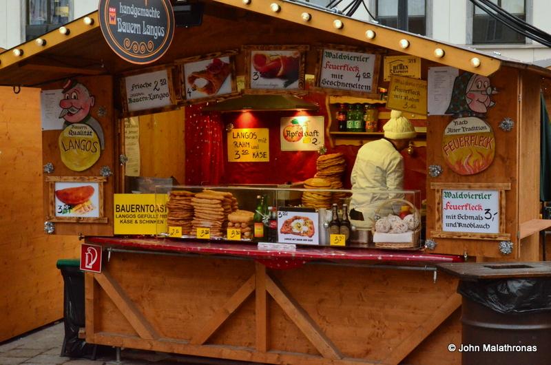 Langos stand, Christmas market Am Hof, Vienna