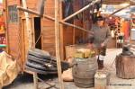 A blacksmith working in Spittelberg, Vienna Christmas market