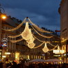 The shopping street of Graben with Christmas illuminations