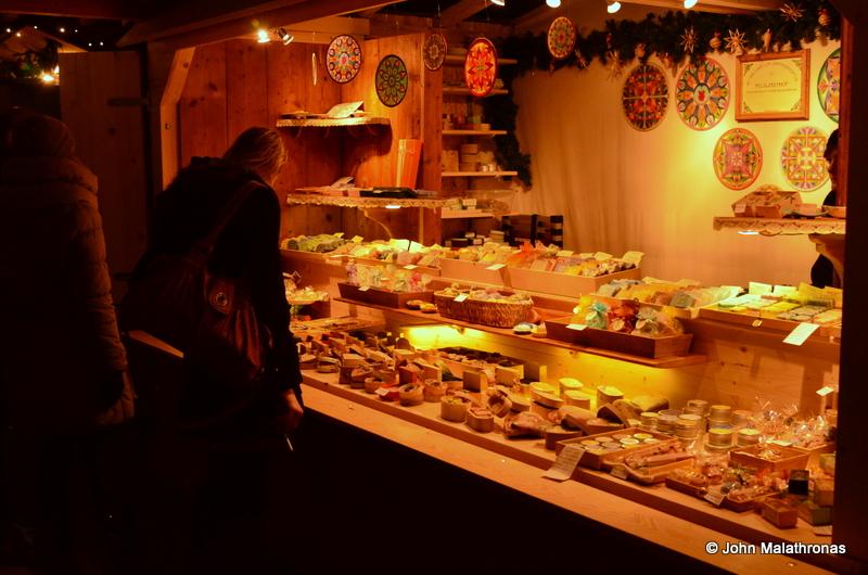 Sweet stall, Christmas market, Karlskirche, Vienna