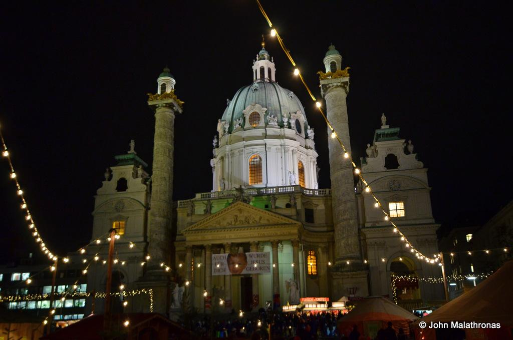 Christmas market, in Karlsplatz