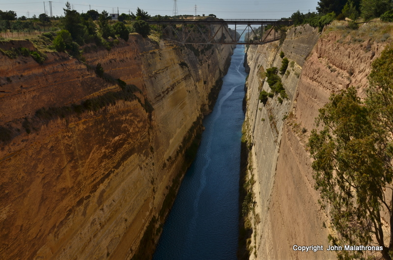 The Corinth Canal Aegean view