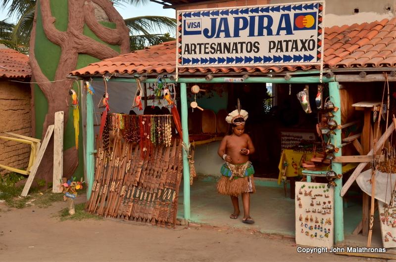 Pataxo child in Porto Seguro, Bahia Brazil